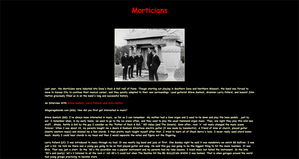 BEYOND THE BEAT GENERATION - MORTICIANS Interview